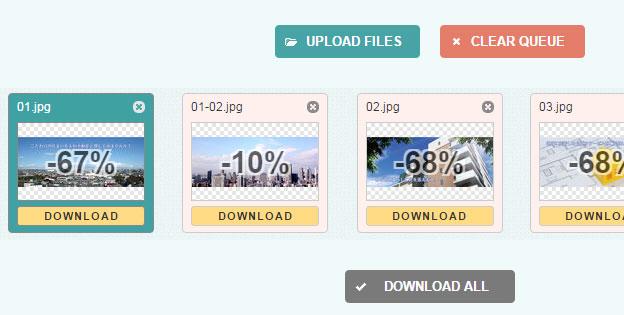 画像軽量化のWebアプリケーション「optimizilla」